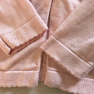 Janie and Jack Shirts & Tops - Janie and Jack Time for Tea 4T cardigan pink
